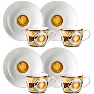 Mäser Sada šálok s podšálkami na espresso, 4 ks, 90 ml COFFEE FANTASTIC