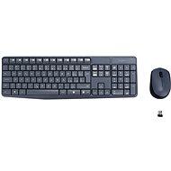 Logitech Wireless Combo MK235 CZ sivá - Set klávesnica a myš