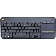 Logitech Wireless Touch Keyboard K400 Plus UK - Klávesnica
