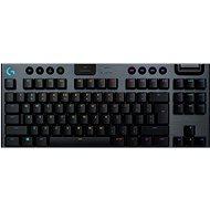Logitech G915 LIGHTSPEED Tenkeyless Wireless RGB GL Clicky US INTL, carbon - Herná klávesnica