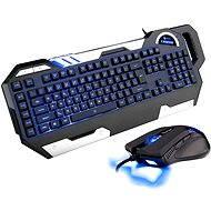 C-TECH Chiron + EMPUS (modrá) - Set klávesnice a myši