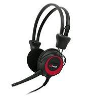 C-TECH MHS-02, čierno-červená - Slúchadlá s mikrofónom