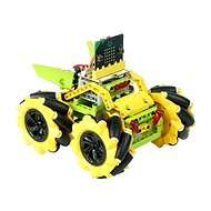 Mecanum bugina s pohybom 360° – žltá (bez micro:bit) - Programovateľná stavebnica