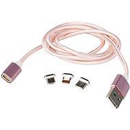 MCX 014 rosegold + puzdro EVA - Dátový kábel