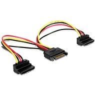 Gembird Cableexpert SATA napájací na 2x SATA 90 °, rozdvojka, 15 cm