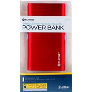 C-Tech Omega 5000mAh červený - Power Bank