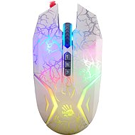 A4tech Bloody N50 Neon biela s neónovým podsvietením - Herná myš