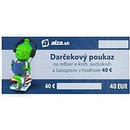 Elektronický darčekový poukaz Alza.sk na nákup e-kníh, audiokníh a časopisov v hodnote 40 € - Poukaz