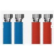 """Prívodná hadica MERABELL Aqua Flexi G1/2"""" – G1/2"""" 30 – 60 cm –  2ks (modrá, červená)"""