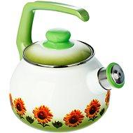 Metalac Smaltovaný čajník 2,5 l, dekor slnečnice - Varná kanvica