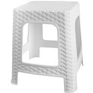 MEGAPLAST Taburet I 36 × 33 × 33 cm, polyratan, biela - Záhradná stolička
