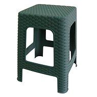 MEGAPLAST Taburet II 45 × 35,5 × 35,5 cm, polyratan, tm. zelená