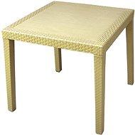 MEGAPLAST RATAN LUX 73 × 75,5 × 75,5 cm, polyratan, champagne - Záhradný stôl