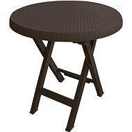 MEGAPLAST Teo skladací O 70 cm, wenge - Záhradný stôl