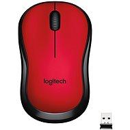 Myš Logitech Wireless Mouse M220 Silent, červená - Myš