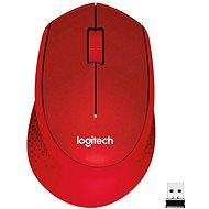 Logitech Wireless Mouse M330 Silent Plus, červená - Myš