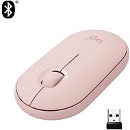 Logitech Pebble M350 Wireless Mouse, ružová - Myš