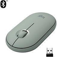 Logitech Pebble M350 Wireless Mouse, eukalyptová - Myš