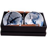 Made In Japan Set misiek Blue & White s paličkami 500 ml 2 ks - Sada misiek