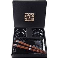 Made In Japan Sushi set Black Sakura 6 ks