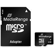 MEDIARANGE microSDHC 4 GB Class 10 + SD adaptér - Pamäťová karta