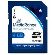 MEDIARANGE SDHC 4 GB Class 10 - Pamäťová karta