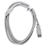 OEM USB 2.0 predlžovací 5 m AA sivý