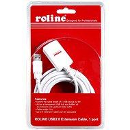 Roline USB 2.0 predlžovací 5 m A-A aktívny biely - Dátový kábel