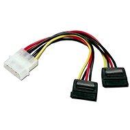 """Dátový kábel ROLINE napájací FDD 5,25"""" - 2x SATA, 0,15m - Datový kabel"""