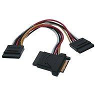 Dátový kábel ROLINE napájací SATA -> 3x SATA, 0.15m - Datový kabel