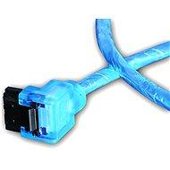 AKASA SATA blue UV 0.5m - Dátový kábel
