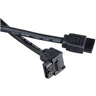 AKASA SATA čierny 0.5m - Dátový kábel