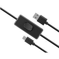 AKASA USB C napájací kábel so switchom/AK-CBUB57-15BK