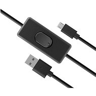 AKASA USB Micro-B napájací kábel so switchom/AK-CBUB58-15BK