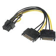 AKASA napájacia redukcia 2× SATA na 8 pin PCIe 2.0