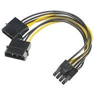AKASA napájacia redukcia 4-pin Molex na 8-pin PCIe