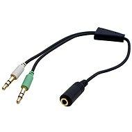 OEM audio 4-pólový 3,5 mm JACK --> 2× 3,5 mm JACK - Redukcia
