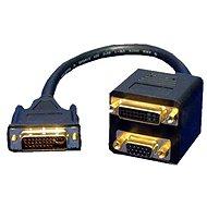 DVI-I (M) dual  --> DVI-I (F) single + VGA