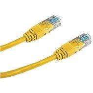 Datacom CAT5E UTP žltý 0,5 m - Sieťový kábel