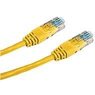 Datacom, CAT6, UTP, 0,5 m, žltý - Sieťový kábel