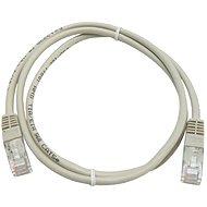 Datacom, CAT5E, UTP sivý 1 m