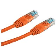 Sieťový kábel Datacom CAT5E UTP oranžový 1 m - Síťový kabel