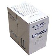 Datacom, licna (lanko), CAT5E, UTP, 305m/box žltý - Sieťový kábel