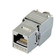 Datacom Keystone RJ45 STP CAT6A samorezný SILVER - Konektor
