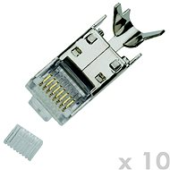 Datacom Plug STP CAT7(6A) 8p8c- RJ45 drát (10ks) - Konektor