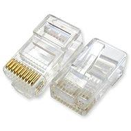 100-pack, Datacom, RJ48, CAT5E, UTP, 10p10c, netienený, skladaný, na licnu (lanko) - Konektor
