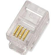 100-pack, Datacom, RJ10, CAT3, UTP, 4p4c, netienené, skladaný, na licnu (lanko) - Konektor
