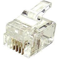 100-pack, Datacom, RJ11, CAT3, UTP, 6p4c, netienený, skladaný, na licnu (lanko) - Konektor