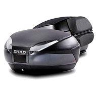 SHAD Vrchný kufor na motorku SH48 Tmavo šedý vrátane opierky a karbónového veka - Moto kufor