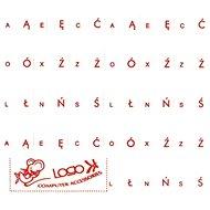Prelepky na klávesnice, červené, poľské - Nálepky